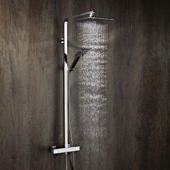 Verona Geo Bar Mixer Shower with Shower Kit + Fixed Head
