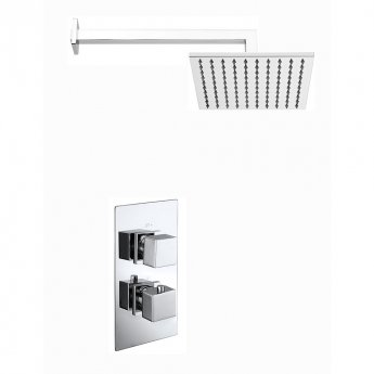 Verona Geo Dual Concealed Mixer Shower with Fixed Head