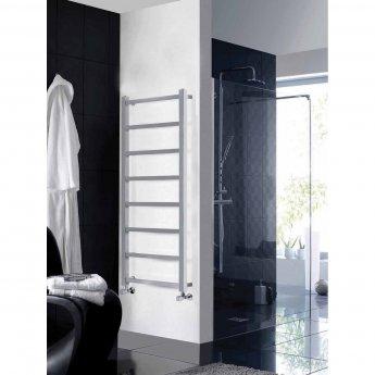 Verona Harrow Designer Heated Towel Rail 1200mm H x 450mm W - Chrome