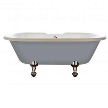Verona Hebden Freestanding Double Ended Roll Top Bath 1700mm x 750mm Exc Feet - Dust Grey Outer