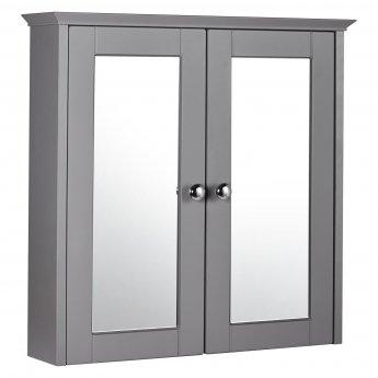 Verona Holborn 2-Door Mirrored Bathroom Cabinet 650mm H x 650mm W - Dust Grey