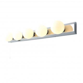 Verona Hollywood 5 Light Wall Bar 680mm Wide - Chrome