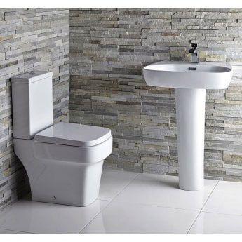 Verona Medici Close Coupled Toilet with Push Button Cistern - Soft Close Seat