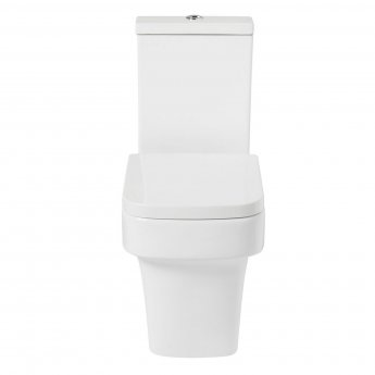 Verona Medici Flush to Wall Close Coupled Toilet with Push Button Cistern - Soft Close Seat