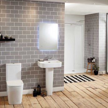 Verona Modo Basin with Full Pedestal 550mm Wide - 1 Tap Hole