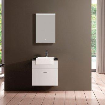 Verona Paris 1-Door Mirrored Bathroom Cabinet 500mm Wide with LED Light and Shaver Socket