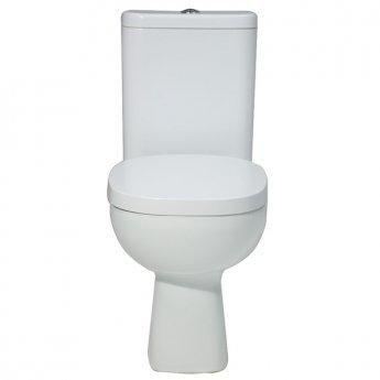 Verona Petit 2 Close Coupled Toilet WC Push Button Cistern - Standard Seat