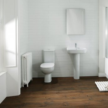 Verona Petit 2 Close Coupled Toilet WC Push Button Cistern - Soft Close Seat