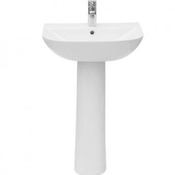 Verona Promenade Basin & Full Pedestal 550mm Wide 1 Tap Hole