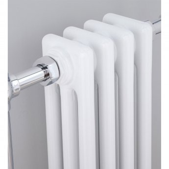 Verona Radley Traditional Radiator Towel Rail 963mm H x 493mm W Chrome