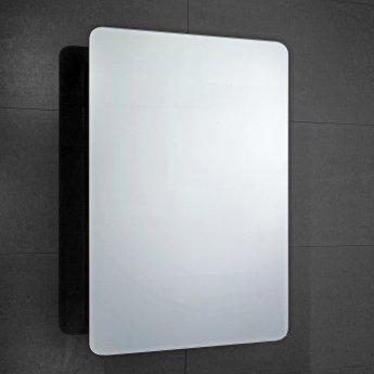 Verona Scholes 1-Door Mirrored Bathroom Cabinet 500mm Wide - Stainless Steel