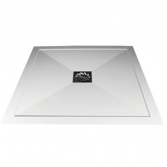 Verona Slimline Square Shower Tray with Waste 1000mm x 1000mm - Flat Top