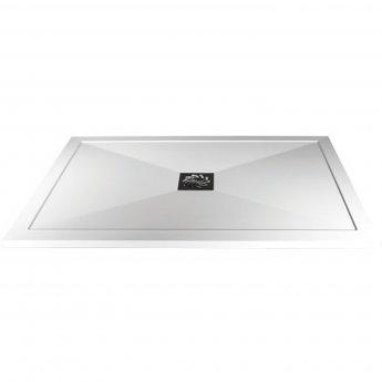 Verona Slimline Rectangular Shower Tray with Waste 1000mm x 800mm - Flat Top