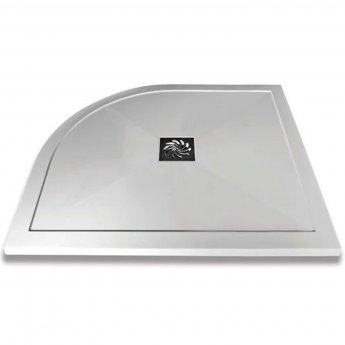 Verona Slimline Offset Quadrant Shower Tray with Waste 1000mm x 800mm - Right Handed