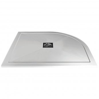 Verona Slimline Offset Quadrant Shower Tray with Waste 1200mm x 800mm - Left Handed