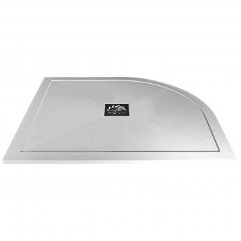 Verona Slimline Offset Quadrant Shower Tray with Waste 1200mm x 900mm - Left Handed