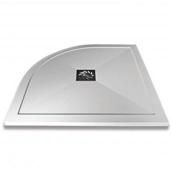 Verona Slimline Quadrant Shower Tray with Waste 800mm x 800mm - Flat Top