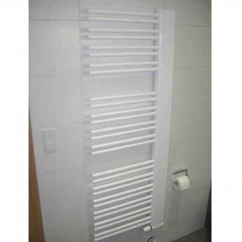 Verona Softcube Plus Heated Towel Rail 1610mm H x 610mm W - White Left Handed