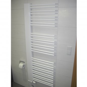 Verona Softcube Plus Heated Towel Rail 1610mm H x 610mm W - White Right Handed
