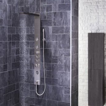Verona Trac Thermostatic Shower Panel 3 Round Body Jets with Shower Hand