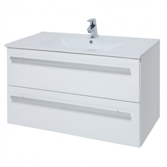 Verona Trevi Wall Hung Vanity Unit with Basin 750mm Wide White 1 Tap Hole