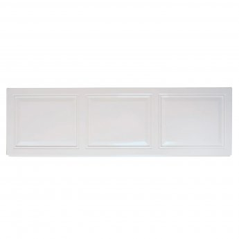 Verona Tudor Acrylic Front Bath Panel 510mm H x 1700mm W - White