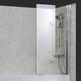 Verona Uno Square Top Bath Screen 1400mm High x 800mm Wide 6mm Glass
