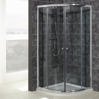 Verona Uno Quadrant Shower Enclosure with Tray 800mm x 800mm - 6mm Glass