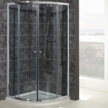 Verona Uno RH Offset Quadrant Shower Enclosure with Tray 1200mm x 800mm - 6mm Glass
