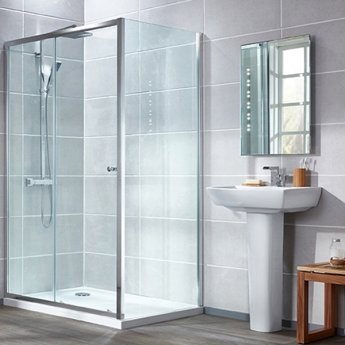 Verona Uno Universal Side Panel, 760mm Wide, 6mm Glass