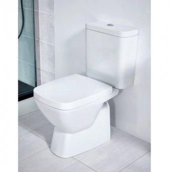 Verona Vibe Close Coupled Toilet WC Push Button Cistern - Soft Close Seat