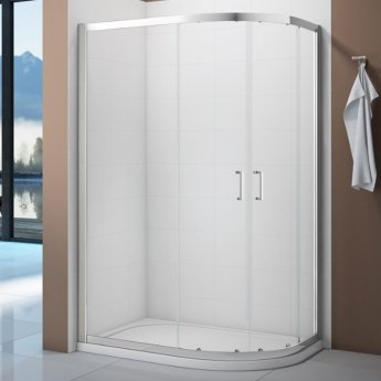 Verona Vivid Offset Quadrant Shower Enclosure 1200mm x 800mm with Shower Tray Right Handed
