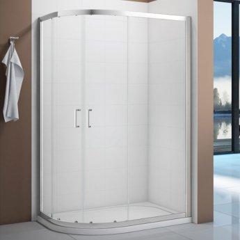 Verona Vivid Offset Quadrant Shower Enclosure 1000mm x 800mm - 6mm Clear Glass