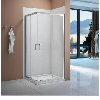 Verona Vivid Corner Entry Shower Enclosure 900mm x 900mm - 6mm Clear Glass
