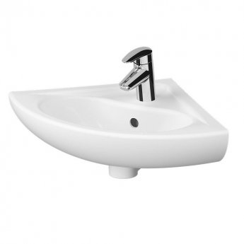 Vitra Arkitekt Corner Basin 565mm Wide 1 Tap Hole