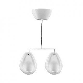 Vitra Arkitekt 2-Bowl Exposed Urinal System, White
