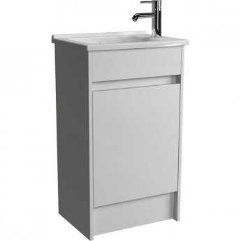 Vitra S50 Compact Floor Standing Vanity Unit with Basin 500mm Wide Gloss White 1 Tap Hole