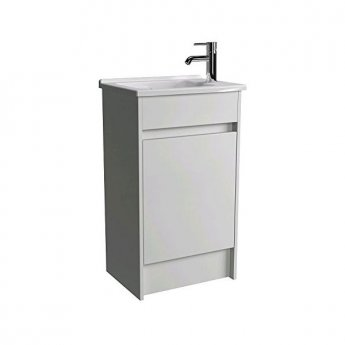Vitra S50 Compact Floor Standing Vanity Unit with Basin 500mm Wide Oak 1 Tap Hole