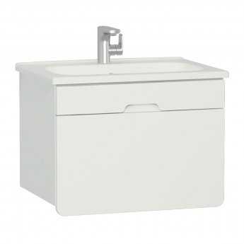 Vitra D-light Vanity Unit with Basin 700mm Wide - Matte White