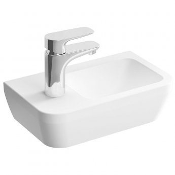 Vitra Integra Left Handed Countertop Sit-On Basin with Overflow 370mm Wide  - 1 Tap Hole