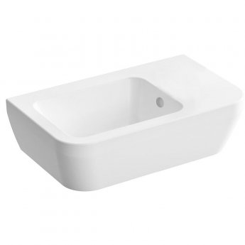 Vitra Integra Right Handed Countertop Sit-On Basin with Overflow 370mm Wide  - 0 Tap Hole