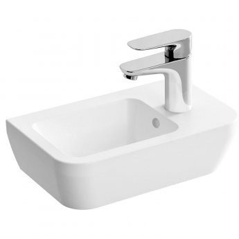 Vitra Integra Right Handed Countertop Sit-On Basin with Overflow 370mm Wide  - 1 Tap Hole