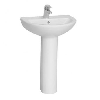 VitrA Layton Bathroom Suite Corner Close Coupled Toilet 1 Tap Hole Basin