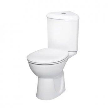 VitrA Layton Corner Close Coupled Toilet WC Push Button Cistern - Standard Seat