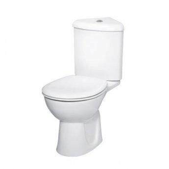 VitrA Layton Corner Close Coupled Toilet WC Push Button Cistern - Soft Close Seat