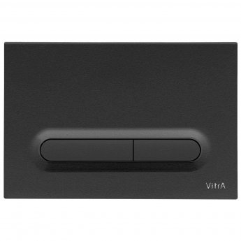 Vitra Loop T Mechanical Dual Flush Plate - Matt Black
