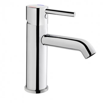 Vitra Minimax Basin Mixer Tap without Pop Up Waste, Chrome