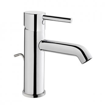 Vitra Minimax Basin Mixer Tap with Pop Up Waste - Chrome