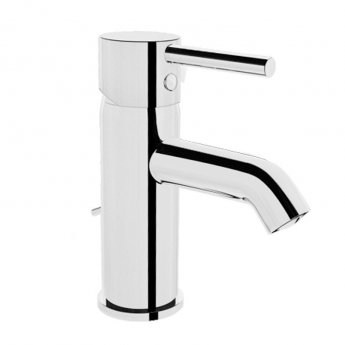 Vitra Minimax S Basin Mixer Tap with Pop Up Waste - Chrome
