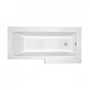 VitrA Neon L-Shaped Shower Bath Right Handed 1700mm x 750mm/850mm 0 Tap Hole